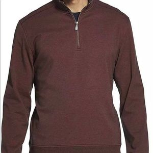 Van Heusen Flex Fleece Sweater Mens Red Merlot